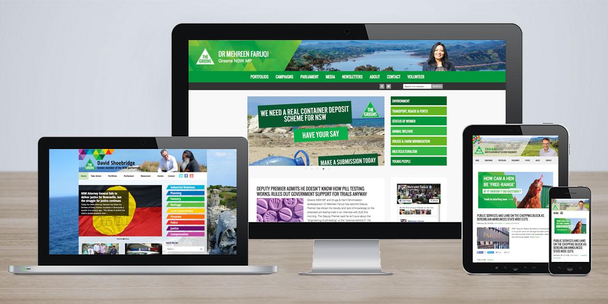 Greens MPs websites
