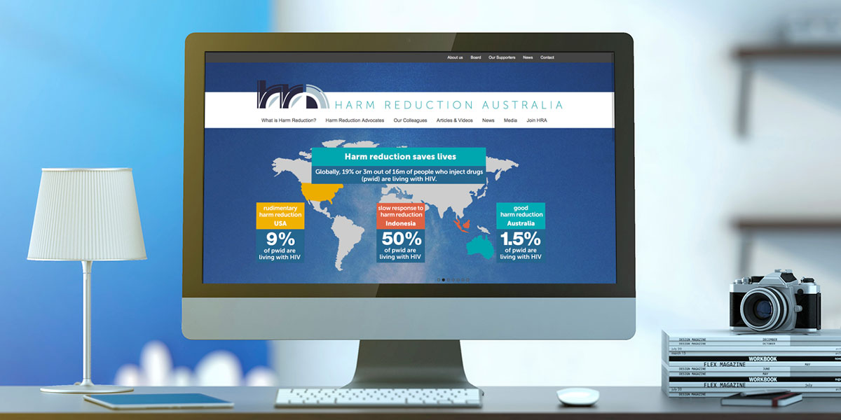 Harm Reduction Australia website design