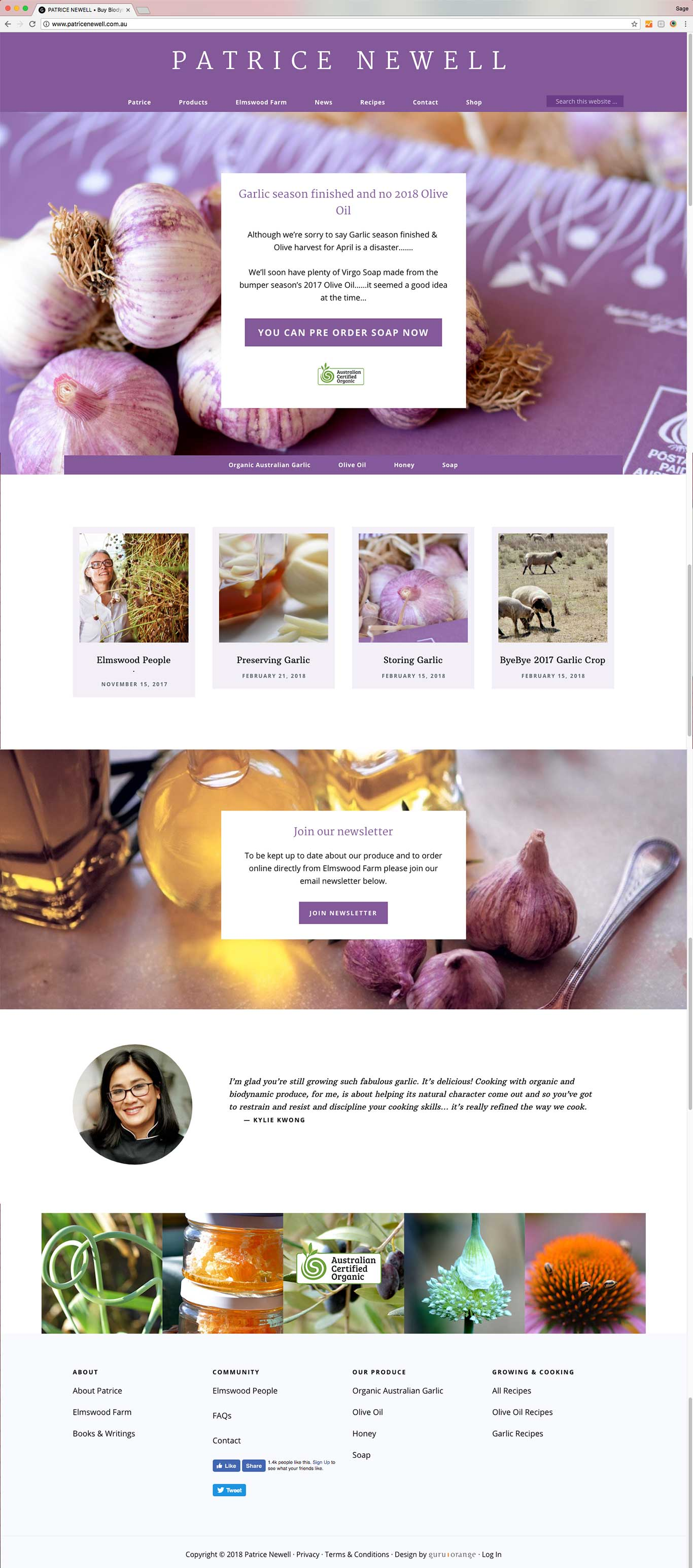 Patrice Newell | biodynamic food delivered to your door