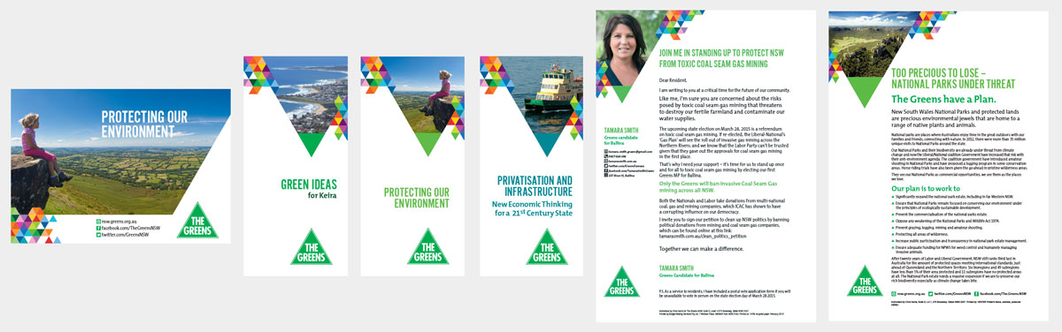 Greens NSW election campaign 2015, print materials