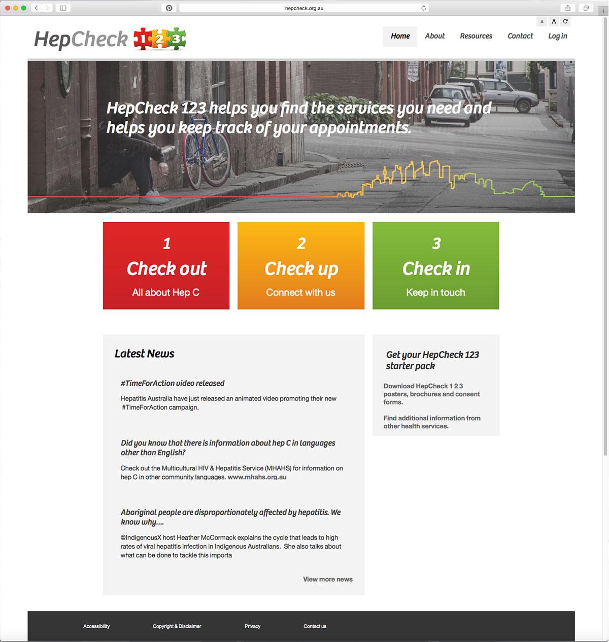 HepCheck 1 2 3 website by Guru Orange